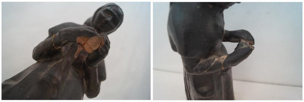 Alguns dels principals desperfectes de l'obra de Gustau Violet / Museus de Sitges