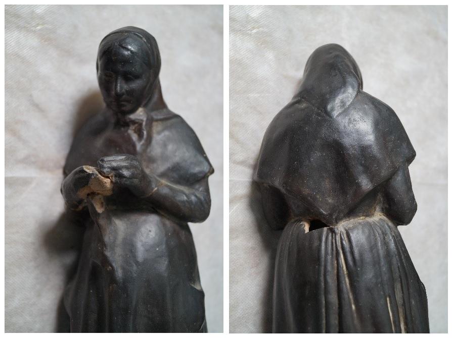 Altres grans desperfectes de l'escultura de Gustau Violet / Museus de Sitges