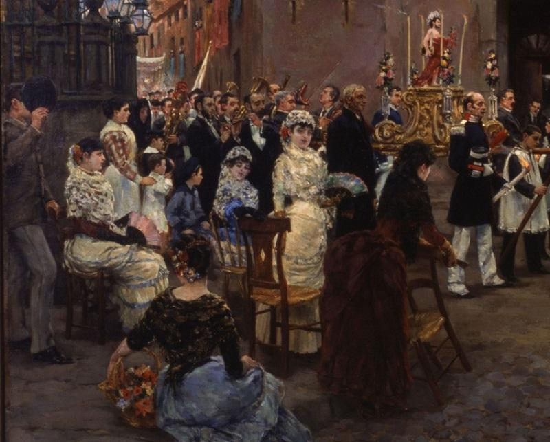 Detall de la part esquerra del quadre del pintor sitgetà / Museus de Sitges